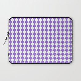 Small Diamonds - White and Dark Pastel Purple Laptop Sleeve