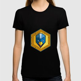 Cyber Punk Chicken Hexagon Icon T-shirt