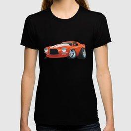 Classic Seventies Muscle Car Cartoon T-shirt
