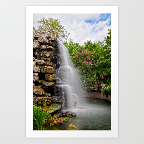 Zoo Waterfall Art Print