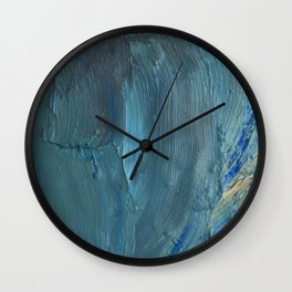 Turquoise Paint Wall Clock