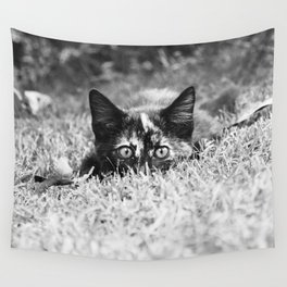 READY TO POUNCE - KITTEN PHOTOGRAPH Wall Tapestry