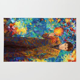 10th Doctor with screwdriver abstract art Rug