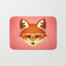 Hipster Fox: Rose Bath Mat