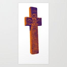 Dracula's Cross Art Print