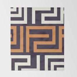 African Tribal Pattern No. 51 Throw Blanket