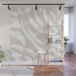 Neutral Brush Strokes Wall Mural