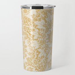 Floral in Yellow Travel Mug