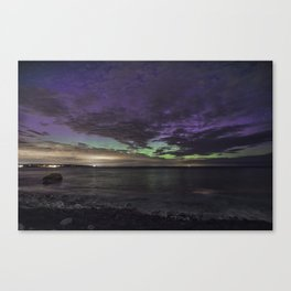 Purple Aurora at Old Garden Canvas Print