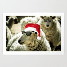 Tis The Season - Sheep Art Print