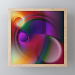 double vortex Framed Mini Art Print
