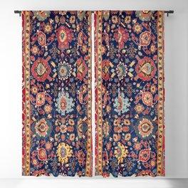 Kelleh Northwest Persian Azerbaijan Floral Carpet Print Blackout Curtain