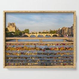 Love padlocks - Paris Serving Tray