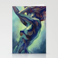 artgerm Stationery Cards featuring Pepper Motion by Artgerm™