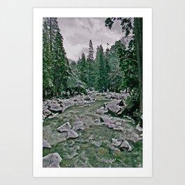 Yosemite Cold River Art Print