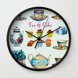 Tea & Cake Wall Clock