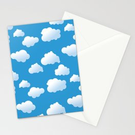 Cartoon clouds pattern Stationery Cards