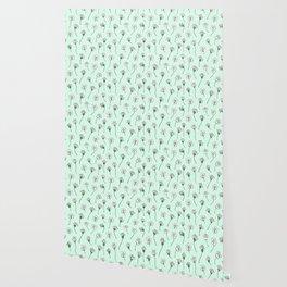 Dainty Wildflowers - Mint & Blush Wallpaper