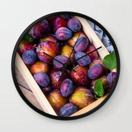 plums Wall Clock