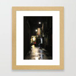 Dark Alley Framed Art Print