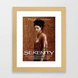 Serenity Mosaic Art Movie Poster - Inara Framed Art Print