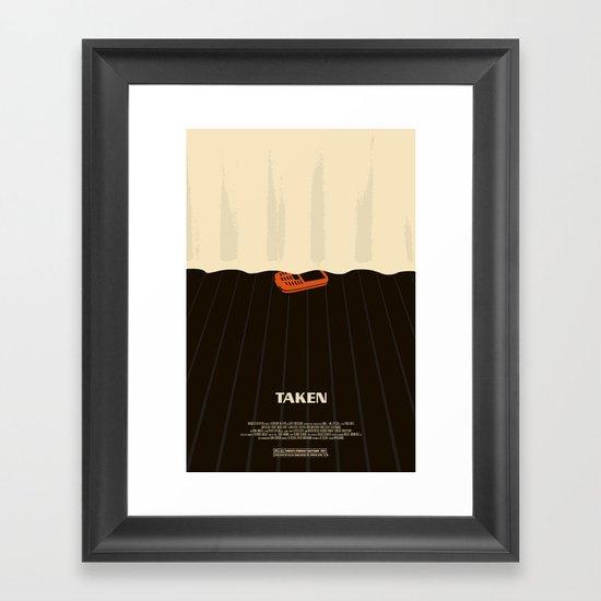 taken. Framed Art Print