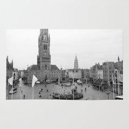 Brugge, Belgium City Center Rug