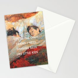 Sharing Beds Stationery Cards