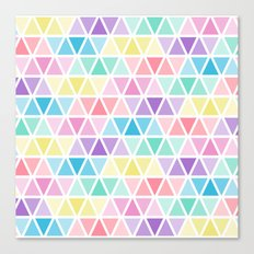 Triangle blue yellow Canvas Print