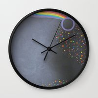 prism Wall Clocks featuring Prism by kaylinicole