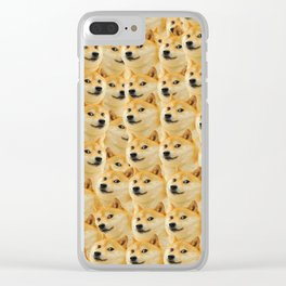 shibe doge fun and funny meme adorable Clear iPhone Case