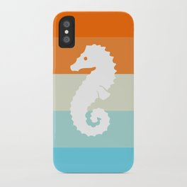 Out At Sea Series - Seahorse Sunset iPhone Case