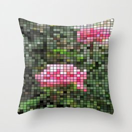 Pink Roses in Anzures 5  Mosaic Throw Pillow
