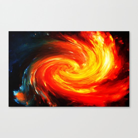 Storm In The Galaxy - Painting Style Canvas Print