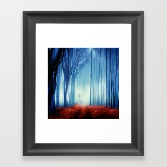 In The Mist she Was Standing Framed Art Print