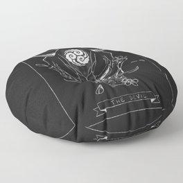 The Devil Tarot Card Floor Pillow