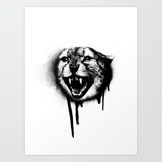 Cheetah Spray Paint Art Print