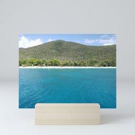 Honeymoon Beach in View Mini Art Print