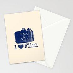 I ♥ Film (Blue/Peach) Stationery Cards