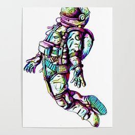 Space Fall Poster