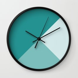 Turquoise Tones Wall Clock