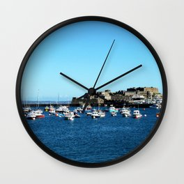 Boats & The Castle Wall Clock