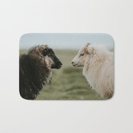 Sheeply in Love - Animal Photography from Iceland Bath Mat