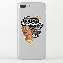 Melanin Afro Natural Hair Pride Clear iPhone Case