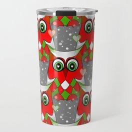 Festive Owl Travel Mug