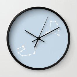 Scorpio Zodiac Constellation - Pastel Blue Wall Clock