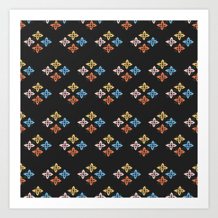 Las Flores 02 (Patterns Please) Art Print