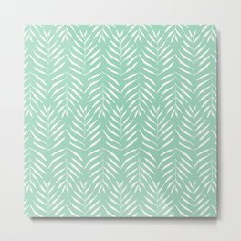 Aquamarine palm tree pattern Metal Print