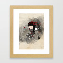Wolf Angel Orfilia Framed Art Print