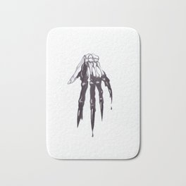 Halloween Dripping Hand Sketch Bath Mat